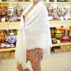 Оренбургский пуховый платок (цвет: белый)