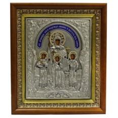 Серебряная икона Вера, Надежда, Любовь и мать их София