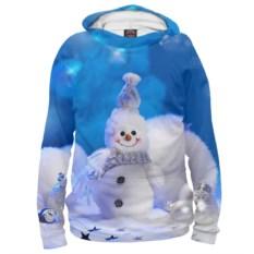 Женское худи Забавный снеговик