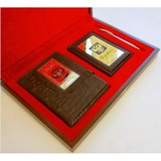 Подарочный набор Ежедневник, обложка на паспорт и ручка