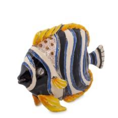 Шкатулка Рыба (цвет: синий, белый, желтый)