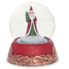 Декоративная фигурка в стеклянном шаре Дед Мороз