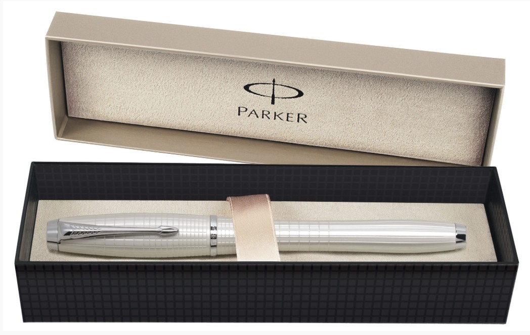 Ручка-роллер Parker Urban Premium Pearl Metal Chiselled