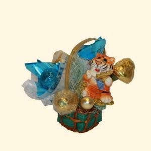 Букет конфет «Тигр Робинзон»