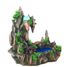 Настольный фонтан Мостик у скал с подсветкой и туманом