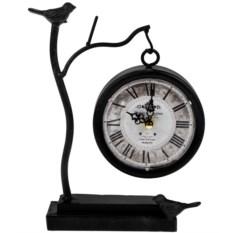 Металлические настольные часы Пение птиц