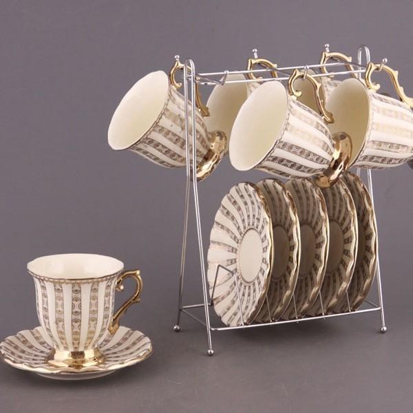 Чайный набор на 6 персон на подставке