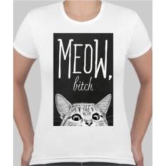 Женская футболка Meow