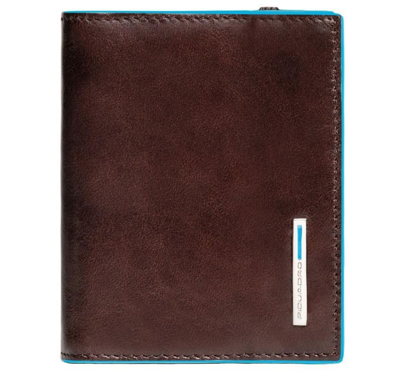 Коричневый футляр для кредитных карт Piquadro Blue Square