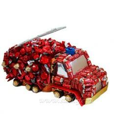 Букет из конфет Пожарная машина