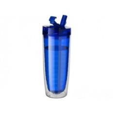 Синяя прозрачная бутылка Sippe