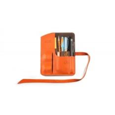 Пенал кожаный Artskill mini (оранжевый)