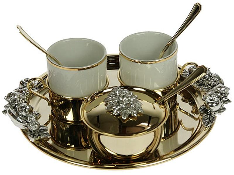 Золотистый подарочный кофейный набор