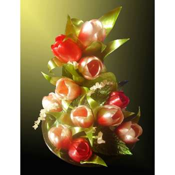 Цветы из карамели «Весенние тюльпаны»
