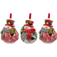 Набор новогодних украшений Снеговики