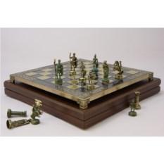 Металлический шахматный набор Античный Рим