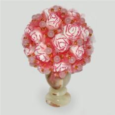 Цветы из розового кварца Весна любви