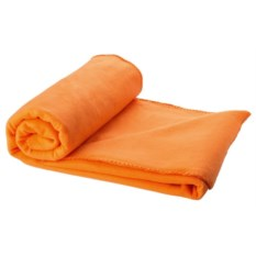 Оранжевый плед в чехле Сomely