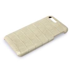 Белый чехол из кожи крокодила на Iphone 7/8 plus