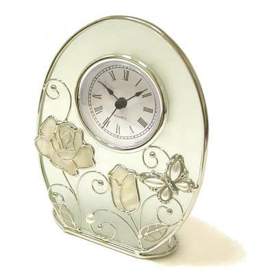 Часы «Бабочка с розой»