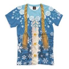 Мужская футболка Снегурочка