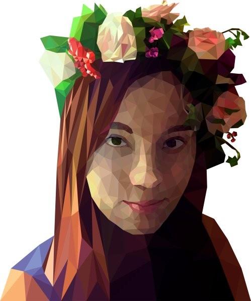Женский полигональный портрет