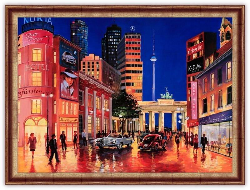 Картина (репродукция) Вечер в Берлине. Тристан Лопез