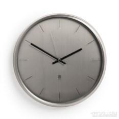 Никелированные настенные часы Мeta
