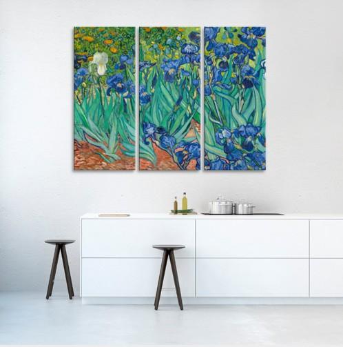 Модульная картина Ван Гог. Ирисы