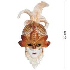 Венецианская маска Стрекоза (цвет — бело-золотой)