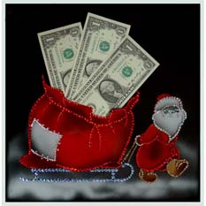 Картина Swarovski «Денежный новогодний подарок»