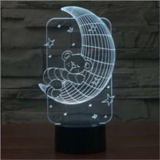3D лампа Медвежонок на Луне