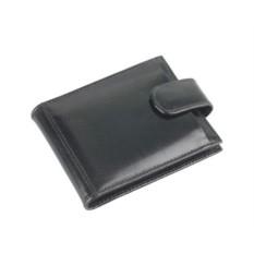 Кожаная черная визитница для 40 визиток и кредитных карт