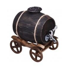 Подарочный штоф «Бочка на телеге»