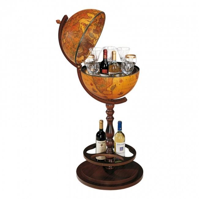 Глобус-бар Zoffoli со столиком на ножке