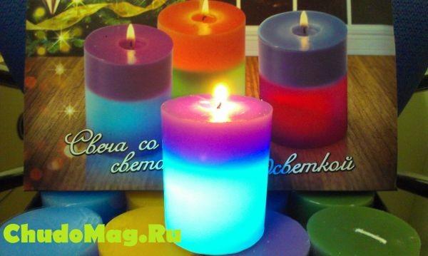 "Необычная, меняющая цвет свеча ""Хамелеон"""