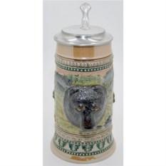 Пивная кружка с крышкой «Медведь»