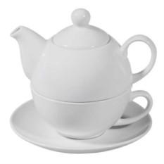 Белый чайный набор Эгоист