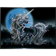 Картина с кристаллами Сваровски Единорог