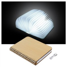 Ночник в виде книги Book lamp в деревянной обложке