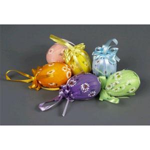 Яйца-подвески в тубе, разноцветные