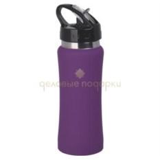 Фиолетовая прорезиненная сопортивная бутыль Индиана