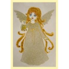 Картина с кристаллами Swarovski Ангелочек с колокольчиком