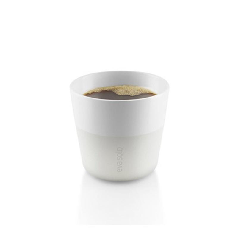 Белые фарфоровые чашки Lungo