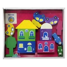 Конструктор «Цветной городок», 14 деталей