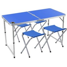 Раскладной стол и 4 стула для пикника