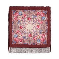 Павлопосадский шерстяной платок Кумушка