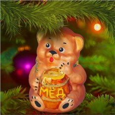 Елочная игрушка «Мишка с медом»