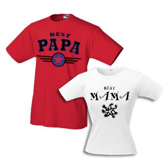 Футболки Best Papa & Best Mama