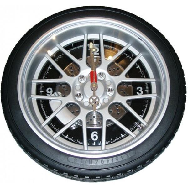 Часы колесо 26 см  без подсветки